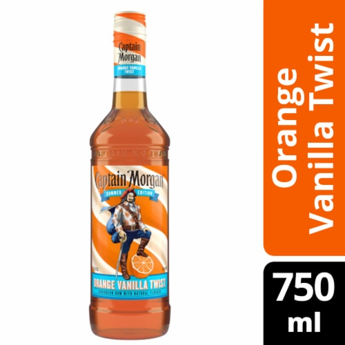 Captain Morgan Orange Vanilla Twist Caribbean Rum Perspective: front