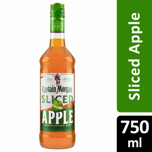 Captain Morgan Sliced Apple Spiced Rum Perspective: front