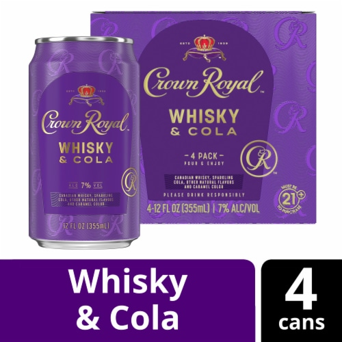 Crown Royal Whisky & Cola Perspective: front
