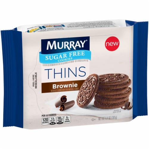 Murray Brownie Thins Sugar Free Cookies Perspective: front