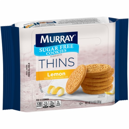 Murray Lemon Thins Sugar Free Cookies Perspective: front
