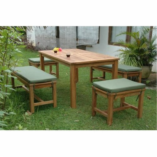 Anderson Teak SET-200 Montage Madison Collection Dining Set Perspective: front