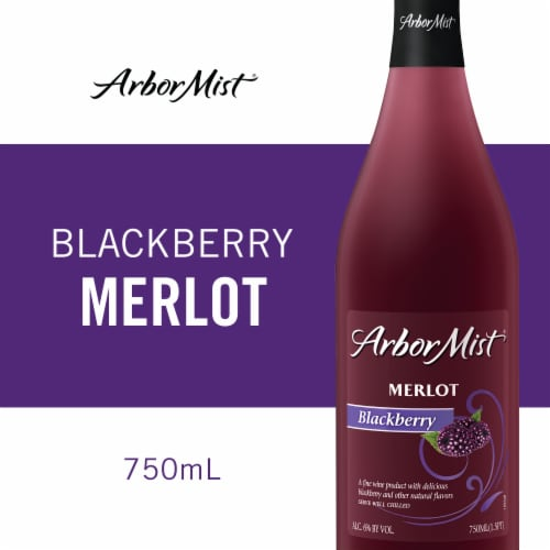 Arbor Mist Blackberry Merlot Fruit Wine Perspective: front