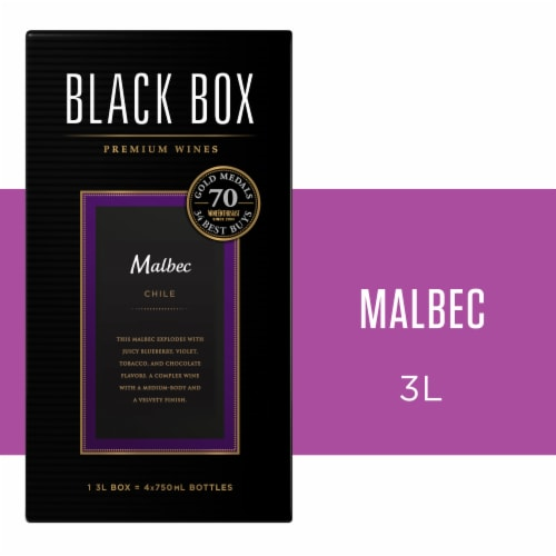 Black Box Malbec Red Wine Perspective: front