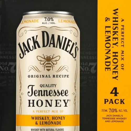 Jack Daniel's Whiskey Honey Lemonade Perspective: front
