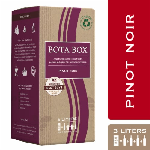 Bota Box Pinot Noir Red Wine Perspective: front