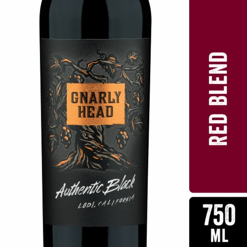 Gnarly Head Authentic Black Red Wine Blend Perspective: front