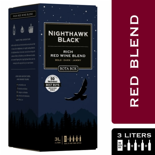 Bota Box Nighthawk Black Rich Red Wine Blend Perspective: front
