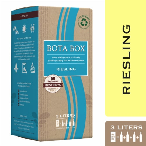 Bota Box Riesling White Wine Perspective: front