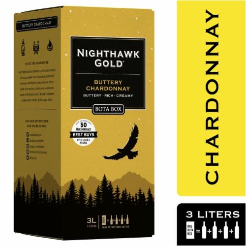 Bota Box Nighthawk Gold Buttery Chardonnay White Wine Perspective: front