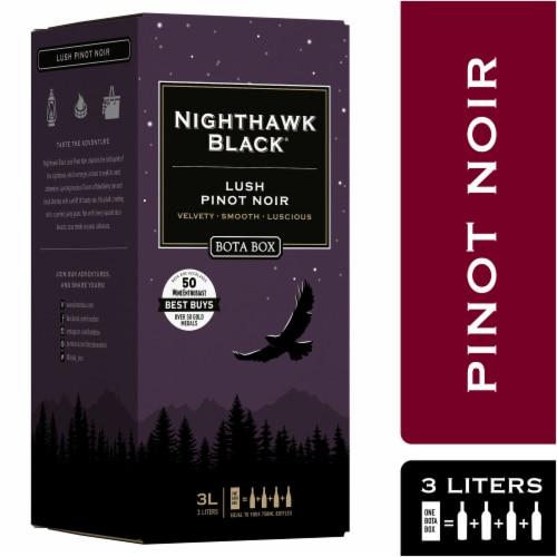 Bota Box Nighthawk Black Lush Pinot Noir Red Wine Perspective: front