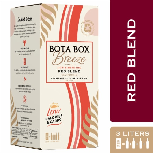 Bota Box Breeze Red Blend Red Wine Perspective: front