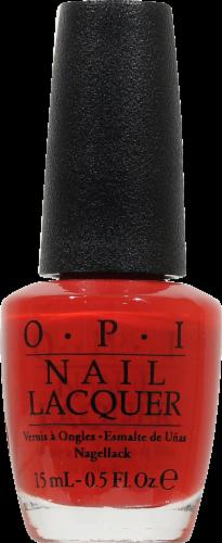 OPI Big Apple Red Nail Lacquer Nail Polish Perspective: front