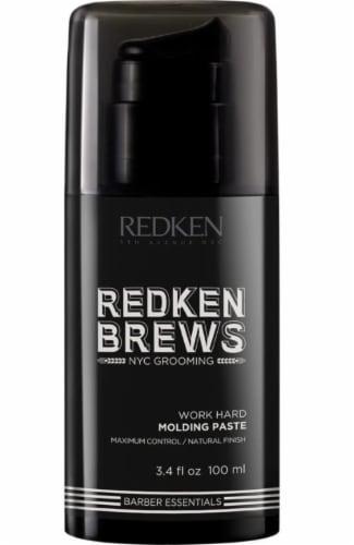Redken Brews Men's Work Hard Molding Paste Perspective: front