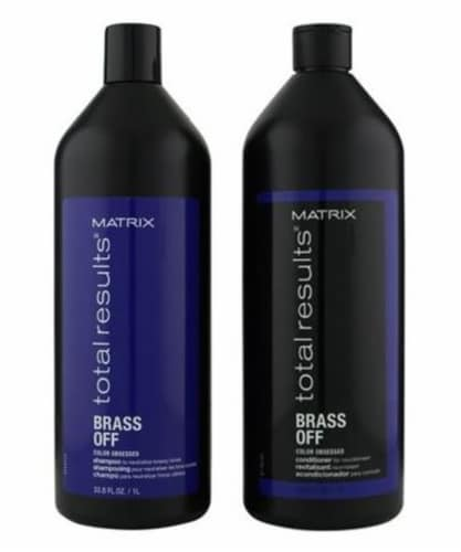 Matrix Total Results Brass Off Shampoo & Conditioner Duo Pack Perspective: front