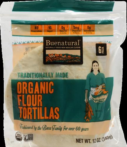 Buenatural Organic Flour Tortillas Perspective: front