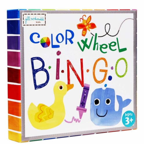 Color Wheel Puzzle Bingo Game Perspective: front