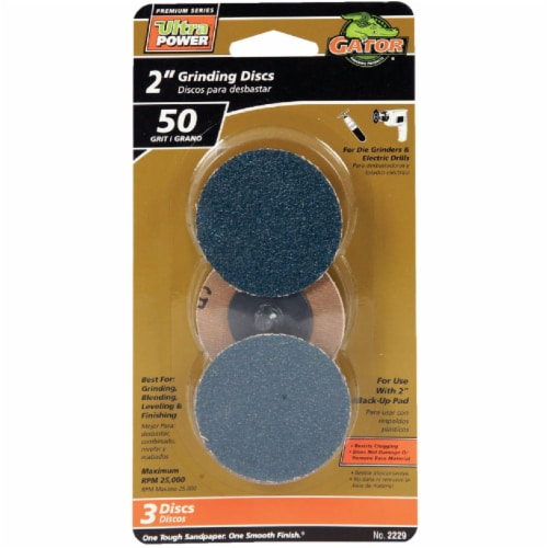 Gator Surface 2 In. 50 Grit Grinding Surface Conditioning Sanding Disc (3-Pack) Perspective: front