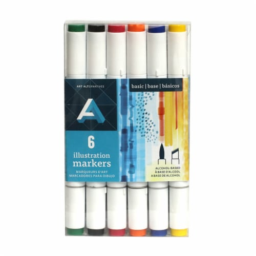 Art Alternatives Illustration Markers Set - Basic Colors Perspective: front