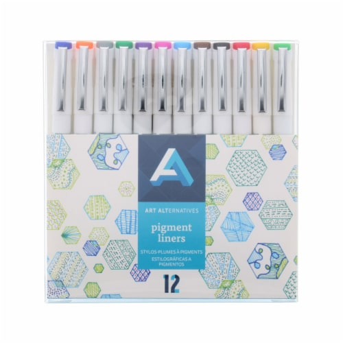 Art Alternatives Pigment Liner Pens Set Perspective: front