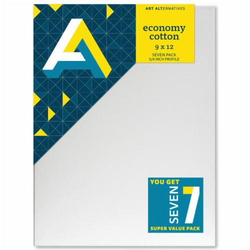 Art Alternatives Economy Cotton Stretched Canvas Super Value Pack - 7 Pack Perspective: front