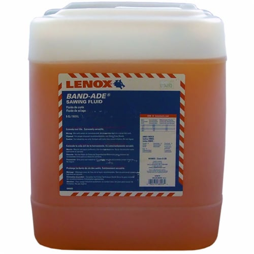 Lenox Band-Ade ® Band Saw Fluid 5-gallon Perspective: front