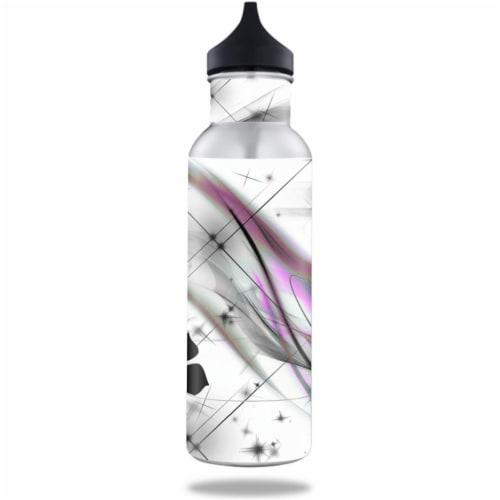 MightySkins BOKE12ST-Gray World Skin for BottleKeeper 12 oz Standard Wrap Cover Sticker - Gra Perspective: front