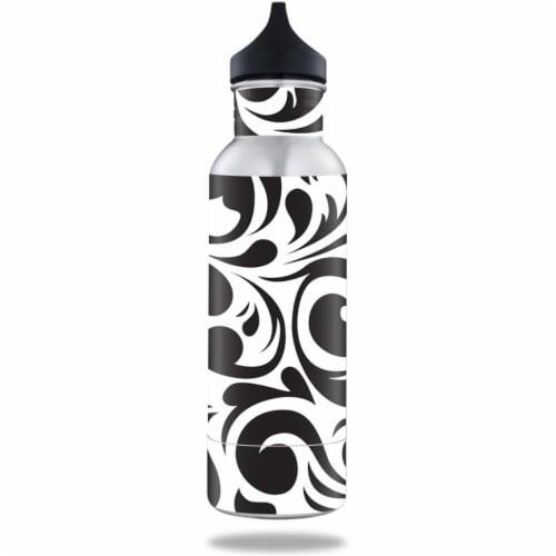 MightySkins BOKE12ST-Swirly Black Skin for BottleKeeper 12 oz Standard Wrap Cover Sticker - S Perspective: front