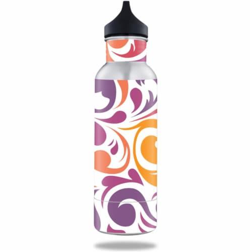 MightySkins BOKE12ST-Swirly Girly Skin for BottleKeeper 12 oz Standard Wrap Cover Sticker - S Perspective: front