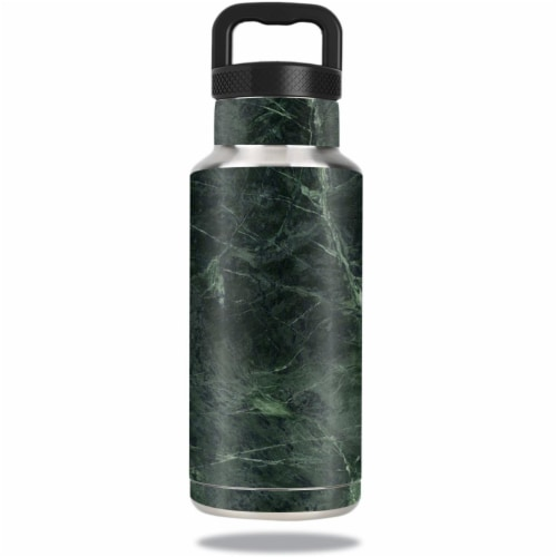 MightySkins OZBOT36-Green Marble Skin for Ozark Trail Water 36 oz Bottle Wrap Cover Sticker - Perspective: front