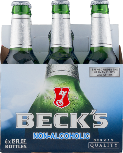 Beck's Non-Alcoholic Beer 6 Count Perspective: front