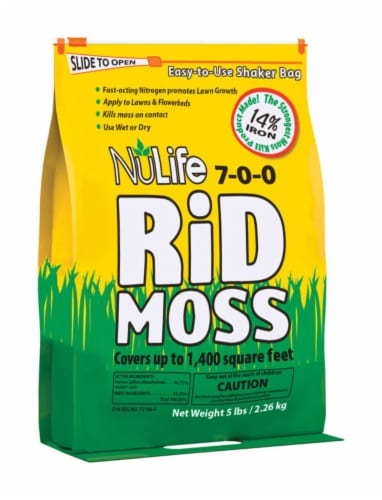 Nulife Rid Moss Granules Perspective: front