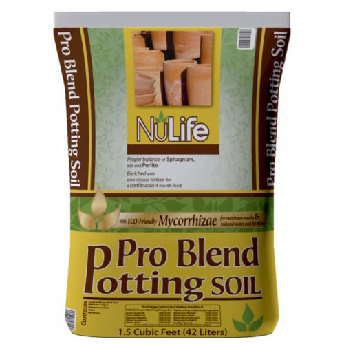 NuLife Pro Blend Organic 14-14-14 Potting Soil - Case Of: 1; Perspective: front