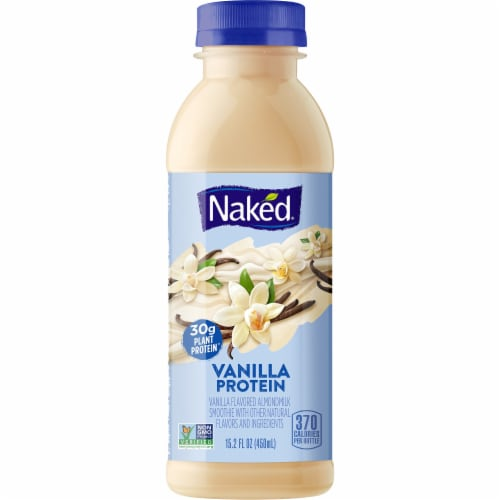 Naked Vanilla Protein Almond Milk Smoothie Perspective: front