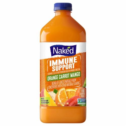Naked Immune Support Orange Carrot Mango Juice Blend Perspective: front