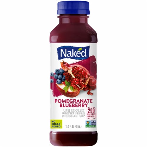 Naked Juice Pomegranate Blueberry Juice Smoothie Perspective: front