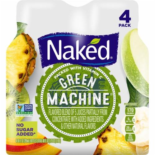 Naked Boosted Green Machine Juice Smoothie Perspective: front