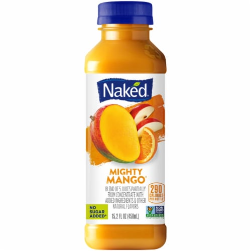 Naked Juice 100% Juice Fruit Smoothie Mighty Mango Perspective: front