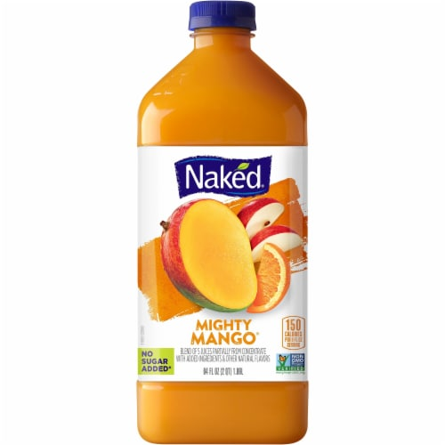 Naked Juice 100% Mighty Mango Flavored Juice Blend Drink Perspective: front