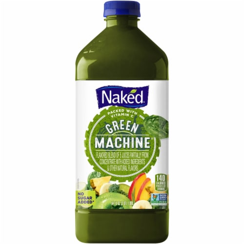 Naked Juice Green Machine No Sugar Added 100% Flavored Juice Blend Drink Perspective: front