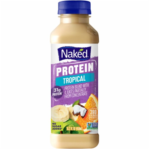 Naked Juice Protein Zone No Sugar Added Protein Juice Smoothie Perspective: front