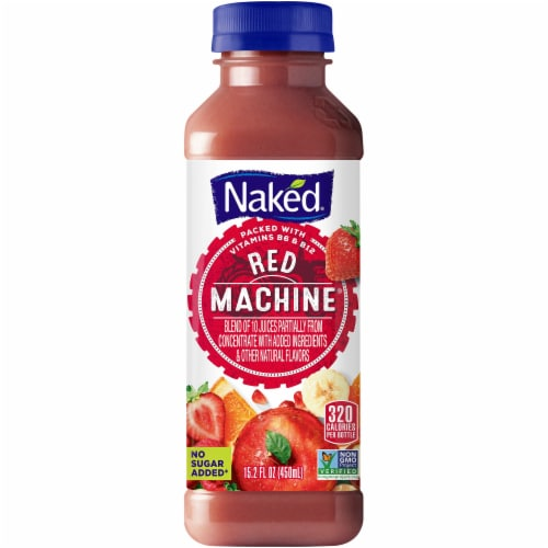 Naked Red Machine Juice Smoothie Blend Perspective: front