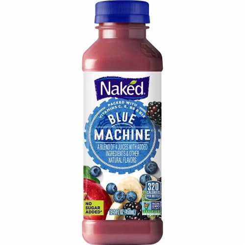 Naked Juice Blue Machine No Sugar Added 100% Juice Smoothie Perspective: front