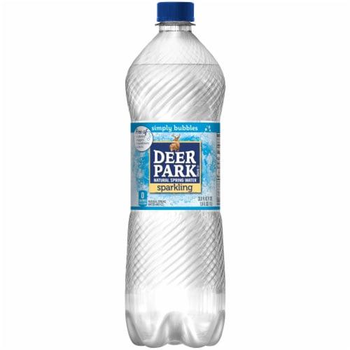 Deer Park Natural Sparkling Bottled Water Perspective: front