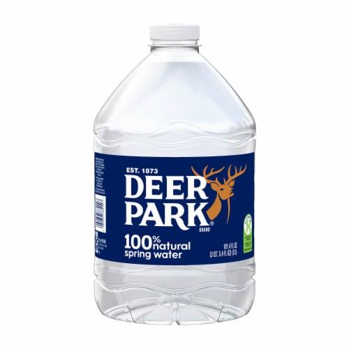 Deer Park 100% Natural Spring Bottled Water Perspective: front