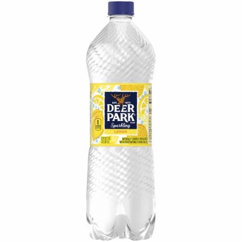 Deer Park Lemon Sparkling Water Perspective: front