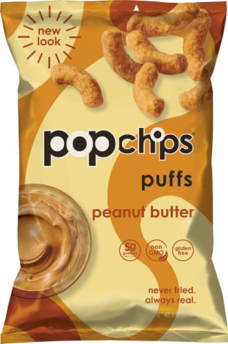 popchips Peanut Butter Puffs Perspective: front