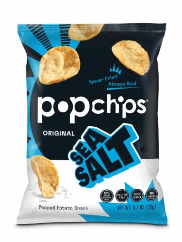 popchips Sea Salt Potato Popped Chip Snack Perspective: front