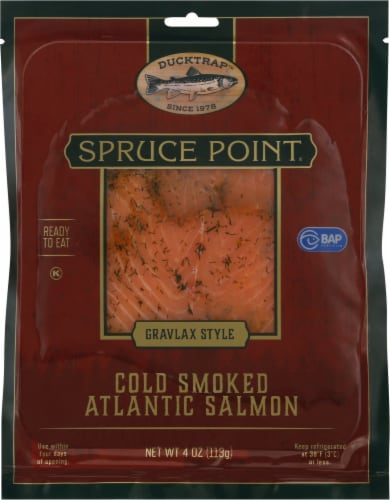 Ducktrap River of Maine Scottish Style Spruce Point Smoked Atlantic Salmon Perspective: front