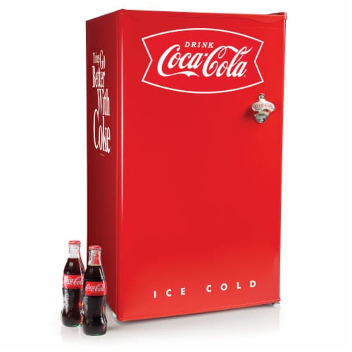 Coca-Cola Refrigerator with Freezer - Red Perspective: front